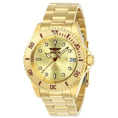 Shop for Invicta Men's 24762 'Pro Diver' Automatic Gold-Tone Stainless Steel Watch. Get free delivery On EVERYTHING* Overstock - Your Online Watches Store! Invicta Pro Diver Automatic, Seiko Automatic, Automatic Watches For Men, Black Stainless Steel, Stainless Steel Watch, Stainless Steel Bracelet, Casio Classic, Casual Watches, Bracelets For Men