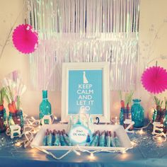 """I really enjoyed decorating and planning for the """"Frozen"""" themed birthday party for my daughters 8th!"""