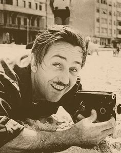 Walt filming. This is really just a great picture :)