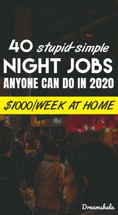 40 stupid-simple night jobs anyone can do in Are you searching for some late night work at home jobs? Here is the list of 50 genuine late night work at home jobs that pays you every day. Check now! Earn Money From Home, Earn Money Online, Online Jobs, Way To Make Money, Legit Work From Home, Online Work From Home, Work From Home Jobs, Id Digital, Digital Nomad