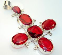 Beautiful Red Bloody Quartz Sterling Silver pendant