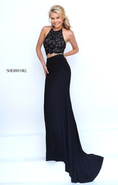 Dresses, Formal, Prom Dresses, Evening Wear at PromGirlGown: Long Two Piece Beads Sherri Hill 50129 Black Prom Dress Classy Prom Dresses, Fitted Prom Dresses, Sherri Hill Prom Dresses, Prom Dresses 2016, Black Prom Dresses, Grad Dresses, Ball Dresses, Evening Dresses, Formal Dresses