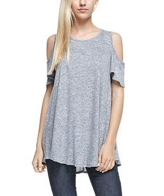 Another great find on #zulily! Navy Cutout Tunic #zulilyfinds