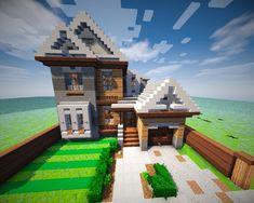 Suburban with Interior Minecraft Map Minecraft City Buildings, Modern Minecraft Houses, Minecraft Mansion, Minecraft Houses Blueprints, Minecraft House Designs, Minecraft Architecture, Minecraft Creations, Minecraft Projects, Minecraft Crafts