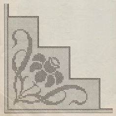 Ideas Embroidery Stitches Border Needlework For 2019 Filet Crochet Charts, Crochet Borders, Crochet Motif, Crochet Designs, Crochet Doilies, Crochet Stitches, Butterfly Cross Stitch, Cross Stitch Borders, Cross Stitch Flowers