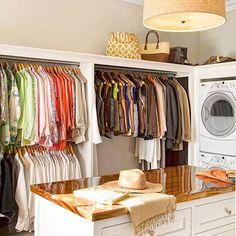 Laundry Room Ideas, menarik, ruang cuci sekaligus walk in closet