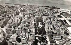 Vigo desde o aire. Ano 1960