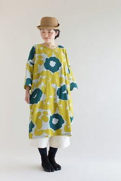 """2016 Fall Collection, """"Naginata"""" tunic dresses comes in 7 patterns. Made of…"""