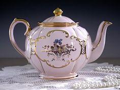 STUNNING Rare Sadler Round Pink Teapot by TeacupsAndOldLace