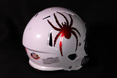 Check out this sweet Richmond helmet! What do you think #SpiderNation?? Just 9 hours left to get your 10% off! Use code: USA1776 College Football Helmets, Football Usa, Football Design, American Football, Nfl, Richmond Spiders, 9 Hours, Helmet Design, Headgear