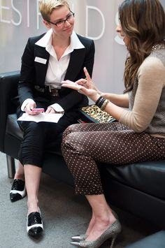 Interviewing Stacy London ay her Westfield Style Tour.