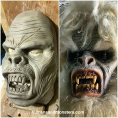 """Creación de #Yeti. Modelado en barro #MakeupFx #CesarPerlop #HumansAndMonsters #monstruo #hombredelasnieves #winter #Monster #WorkProgress #snow #cave…"""
