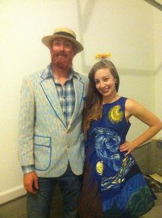 For Halloween I was Starry Night, my husband was Van Gogh. - Imgur