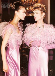 Valentino Haute Couture Fall 1995 | with Shalom Harlow & Kristen McMenamy