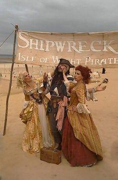 Captain Chris (UK) got slapped by Scarlett & Giselle NL , on Shipwreck Isle Piratefestival 2015