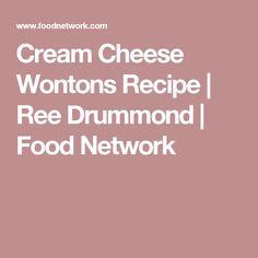 Cream Cheese Wontons Recipe | Ree Drummond | Food Network