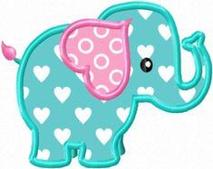 Check out our elephant applique selection for the very best in unique or custom, handmade pieces from our sewing & needlecraft shops. Applique Quilt Patterns, Applique Templates, Applique Embroidery Designs, Machine Embroidery Applique, Quilt Baby, Baby Girl Quilts, Girls Quilts, Creeper Minecraft, Elephant Applique