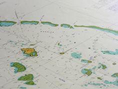 Great Barrier Reef & Lizard Island chart at coastal vintage