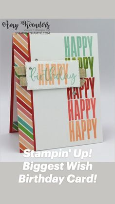 Handmade Birthday Cards, Happy Birthday Cards, Birthday Display, Bday Cards, Thing 1, Stampin Up Catalog, Stamping Up Cards, Card Tutorials, Creative Cards