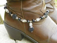 Black Cross Clear Beads Cowboy Cowgirl Boot Jewelry Made in Texas New | eBay