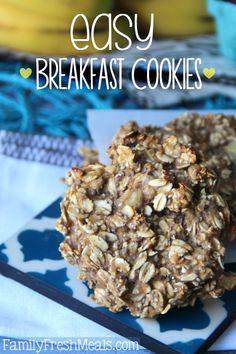 Healthy Oatmeal Breakfast Cookies   Family Fresh Meals