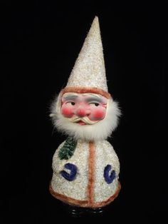 RARE German Antique Pair Santa Toy Paper Mache Candy Containers Bobblehead | eBay