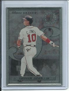 Chipper Jones Atlanta Braves (Baseball Card) 1996 Leaf Preferred Steel #33