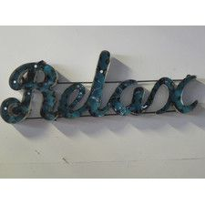 Small Relax with Edge Sign Wall Décor