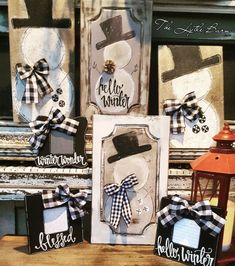 Peace, Joy, Believe farmhouse Christmas wood blocks decor with buffalo plaid, cotton and eucalyptus using chalk couture. Christmas Wood Crafts, Snowman Crafts, Plaid Christmas, Christmas Signs, Rustic Christmas, Christmas Art, Christmas Projects, Winter Christmas, Holiday Crafts