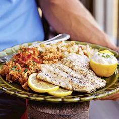 Greek Snapper on the Grill Recipe | MyRecipes.com