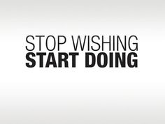 Stop Wishing Start Doing Fitness Motivational by ZestyGraphics, $16.00