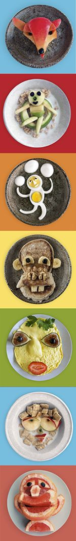 """Food Art - images from new book """"Funny Food"""" by Bill & Claire Wurtzel"""