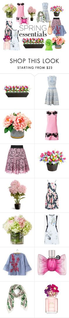 """""""SPRING ESSENTIALS DRESSES"""" by samy-lady ❤ liked on Polyvore featuring beauty, Improvements, Alexander McQueen, Dolce&Gabbana, National Tree Company, Sans Souci, Ted Baker, Viktor & Rolf, Tory Burch and Christian Dior"""