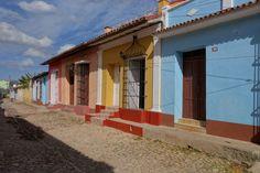 Coloured houses in Trinidad #Cuba #Trinidad