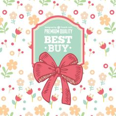 Floral ribbon sale vector
