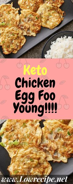 Chicken egg foo young is a recipe that I discovered several months ago when my mom and I ordered Chinese take-out. I was skeptical of the dish until it actually arrived and I got a good look at it. Ketogenic Recipes, Low Carb Recipes, Diet Recipes, Cooking Recipes, Healthy Recipes, Ketogenic Diet, Atkins Recipes, Ketosis Diet, Bariatric Recipes