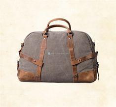 Canvas-and-Leather-Weekender-Bag-2 Satchel, Crossbody Bag, European American, Rucksack Bag, Travel Tote, Canvas Shoulder Bag, Luggage Bags, Mens Fashion, Weekender