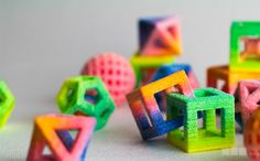 3D printed candy  Check out Neon ombre sours on Cubify at http://cubify.com/Store/Design/GWJ43Q2W6R #getthereeasy