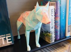 Low Poly Wolf Papercraft (Free Template)