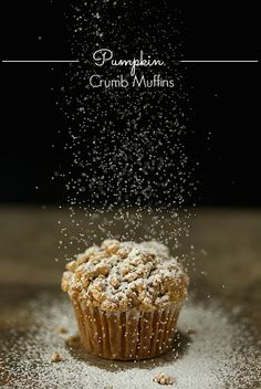 These pumpkin muffins are super moist and full of delicious warm-spiced flavor. The buttery, crumb topping is the crème de la crème!