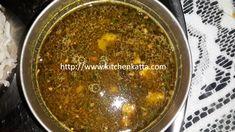kitchen katta: Katachi amti - Spicy daal made with gram daal Dry Coconut, Dal Recipe, Daal, Indian Food Recipes, Ethnic Recipes, Fresh Coriander, Tamarind, Garam Masala, Pressure Cooking