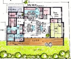 Craftsman Floor Plans, House Floor Plans, Japanese Architecture, Architecture Design, Cabins And Cottages, Japanese House, House Layouts, Design Process, Room Interior