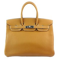 Hermes Birkin35 Brown Color Togo With Palladium Hardware,more info pls pm or contact us