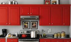 red cabinet ideas - Google Search