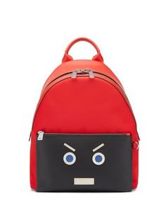 127f0709c Fendi Fendi Faces Leather Backpack Red : Buy replica watches, designer  replica handbags, cheap wallets, shoes for sale