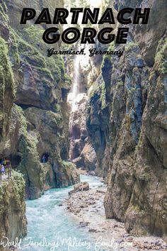 Partnach Gorge – Garmisch, Germany. It's about 6 hours from the Spangdahlem, 5 hours from Ramstein and 15 mins from Edelweiss (but highly suggest staying in an apartment instead!)