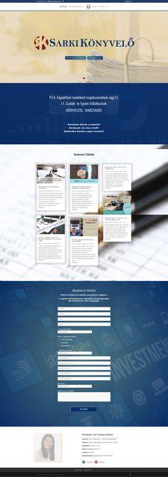 Könyvelőiroda szolgáltatói oldala.   Egyedi webáruház, weboldal  készítéshez írj a  kapcsolat@penta.team címre.  #ourprojects #webdesign   #vallalkozas #webshop #weboldal #pentateam Projects, Log Projects, Blue Prints
