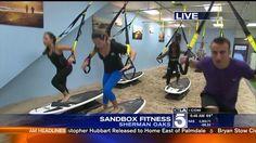 Sandbox Fitness on KTLA morning news Book your free class  www.sandbox-fitness.com