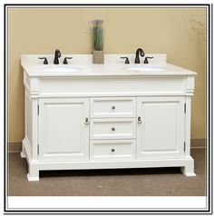 Inch Wide Double Sink Vanity Option For  Inch Wide Space - 48 inch double vanity sink