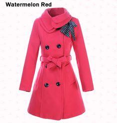 New Womens Woolen Warm Winter Coat Luxury Long Outerwear Trench Coat Jackets Style Work, Mode Style, Style Me, Look Fashion, Winter Fashion, Womens Fashion, Fashion 2014, Dame Chic, Jw Mode